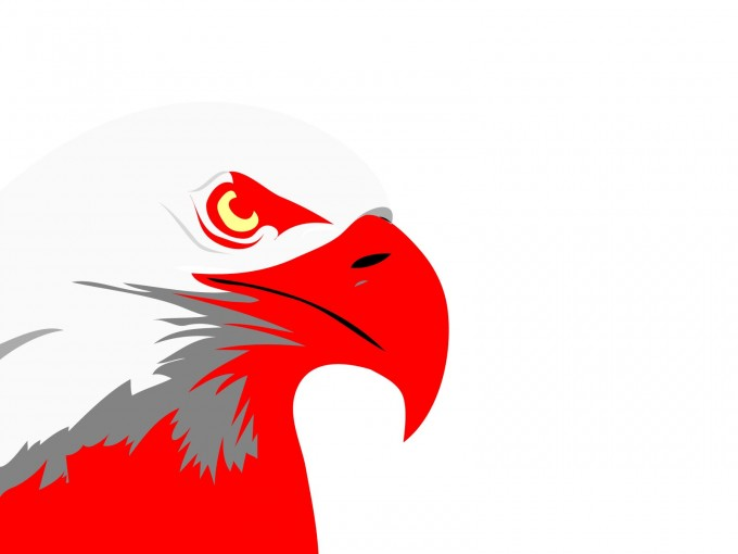 Red Eagle Design PPT Backgrounds
