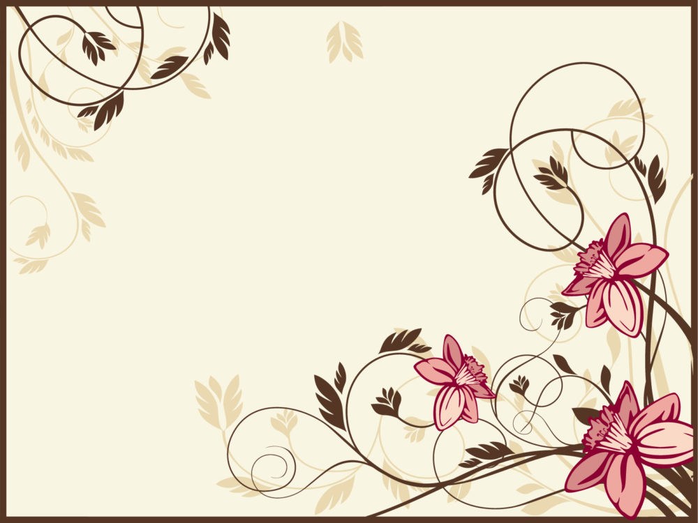 retro flowers backgrounds flowers ppt backgrounds