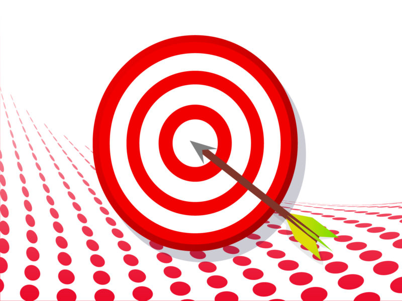 Target with Arrow PPT Backgrounds