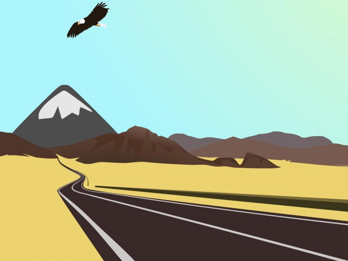 The Mexican Desert Drive Freely PPT Backgrounds