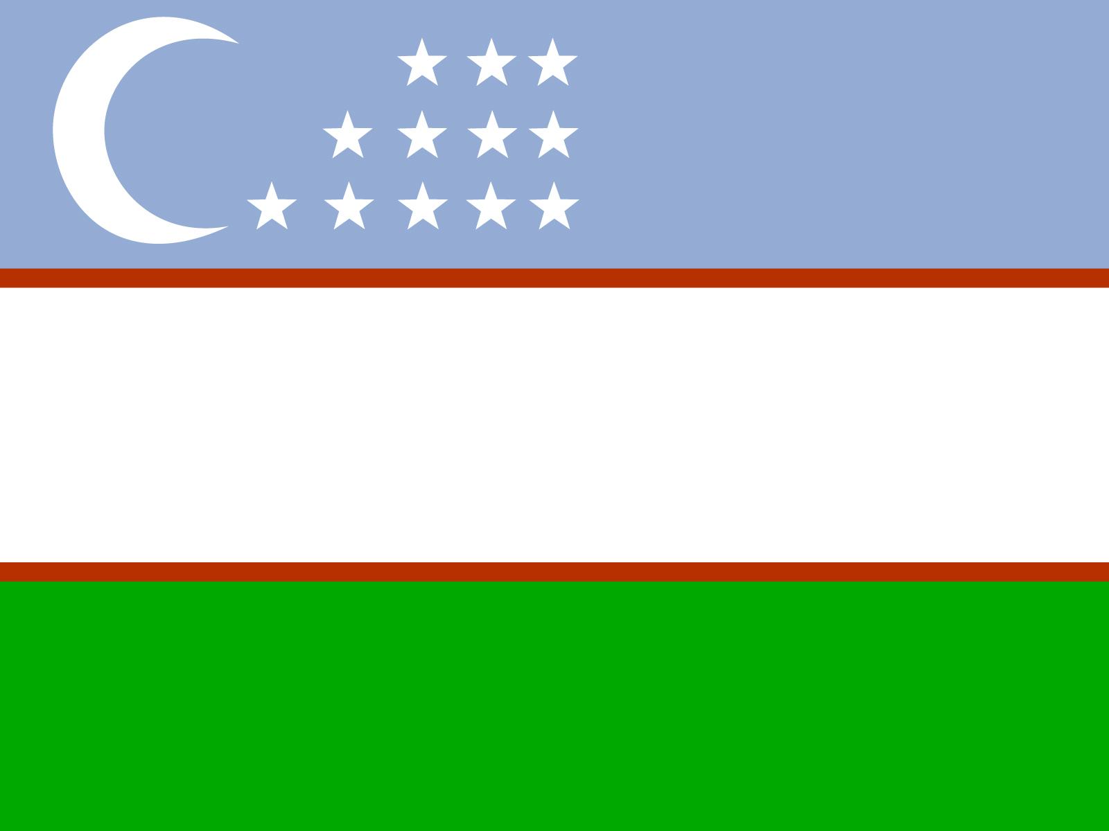 Uzbekistan Flag PPT Backgrounds