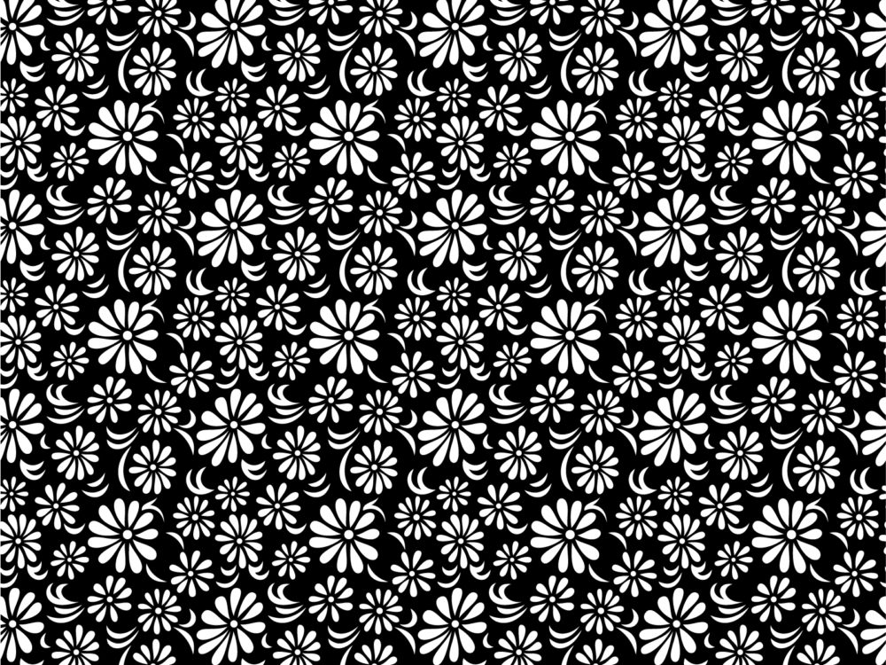 Black white floral backgrounds black flowers white templates black white floral ppt backgrounds mightylinksfo