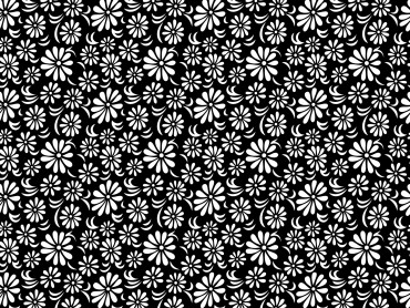 Black white floral