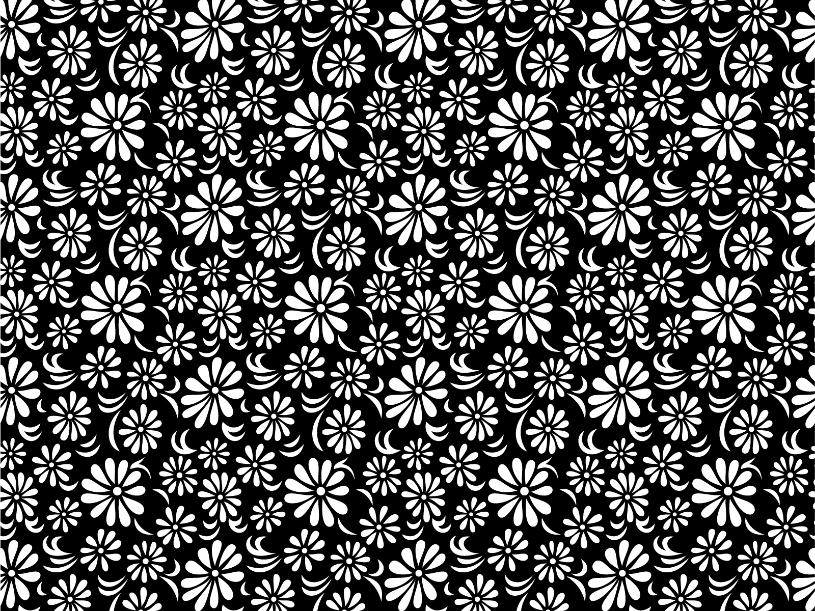 Black White Floral Backgrounds Black Flowers White Templates
