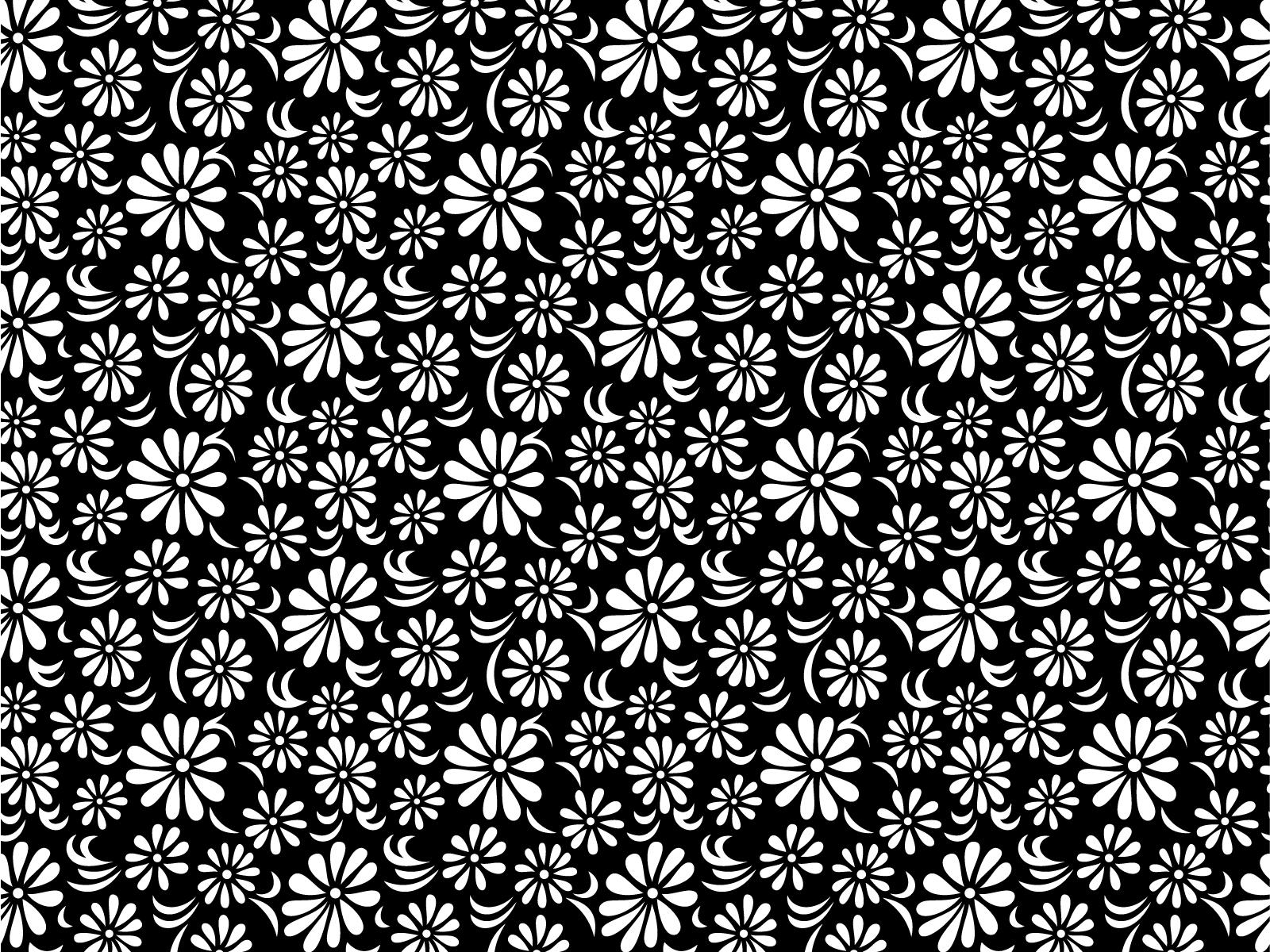 Black White Floral Wallpaper Zef Jam