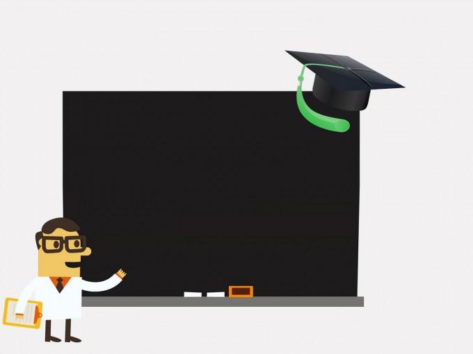 Blackboard – School subjects PPT Backgrounds