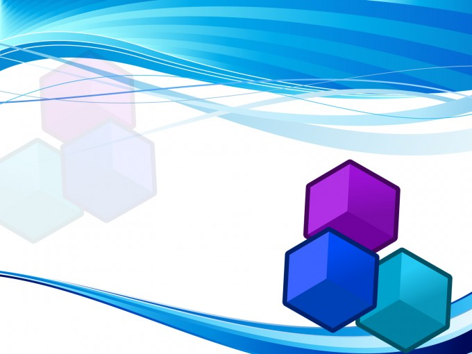 Blue Cube Powerpoint Template PPT Backgrounds