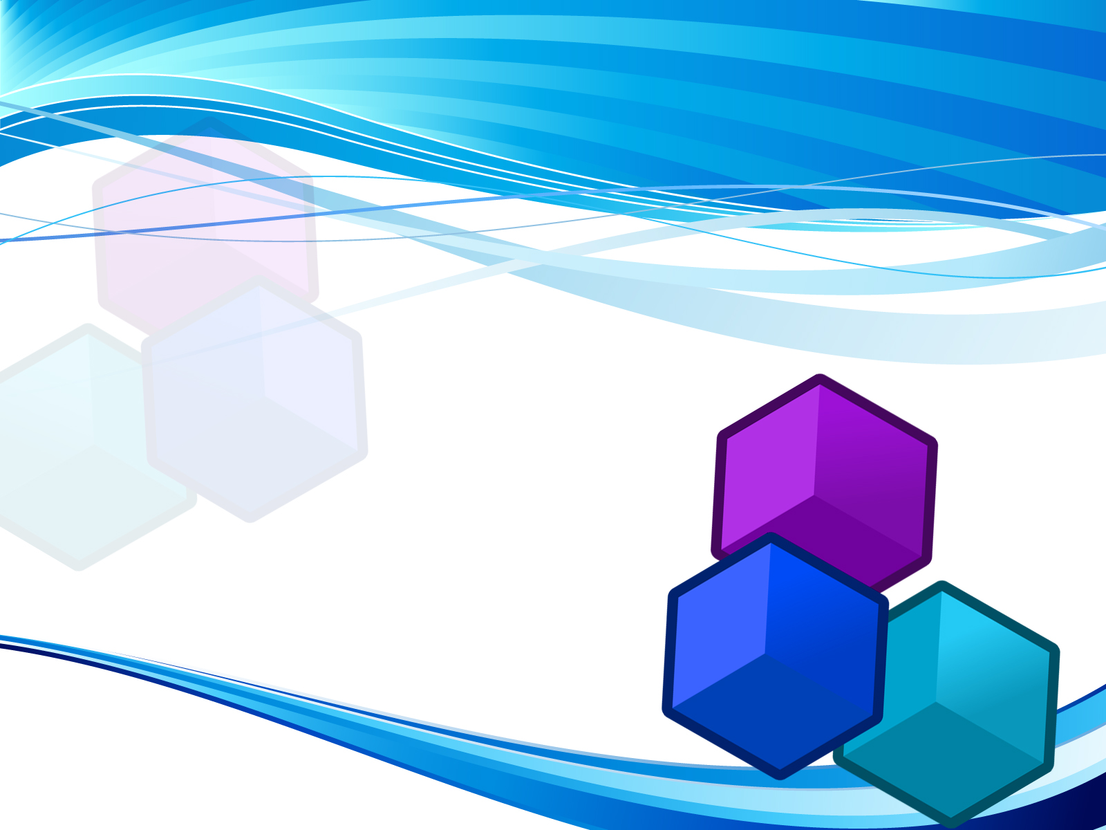 blue cube backgrounds 3d blue templates free ppt