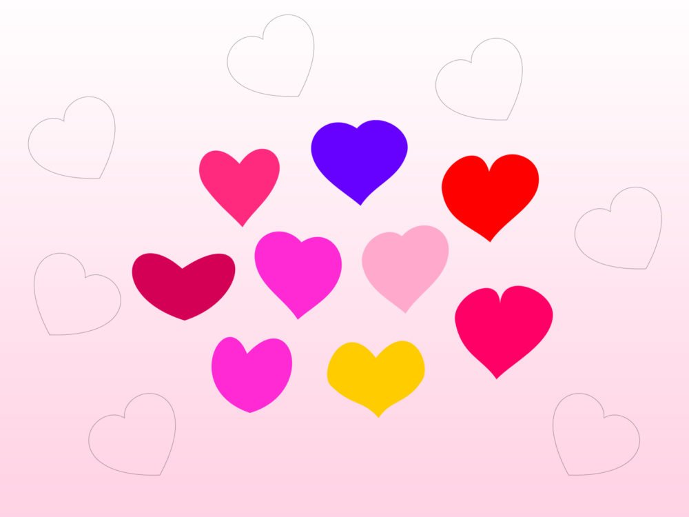 Bundle of hearts ppt backgrounds love pink purple red templates normal resolution toneelgroepblik Gallery