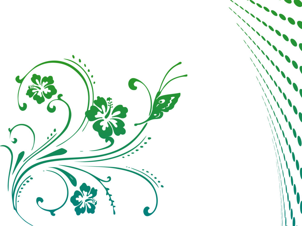 butterfly scroll powerpoint design backgrounds flowers