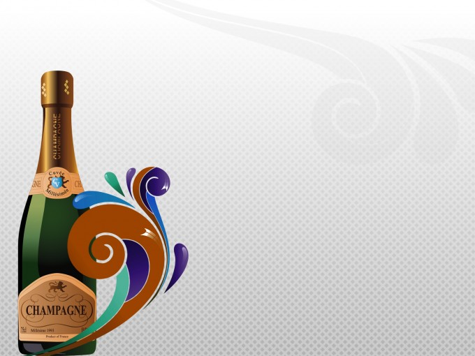 Champagne and Celebrations PPT Backgrounds