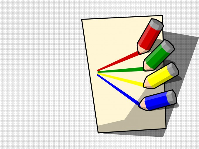Color Pencils of Students PPT Backgrounds