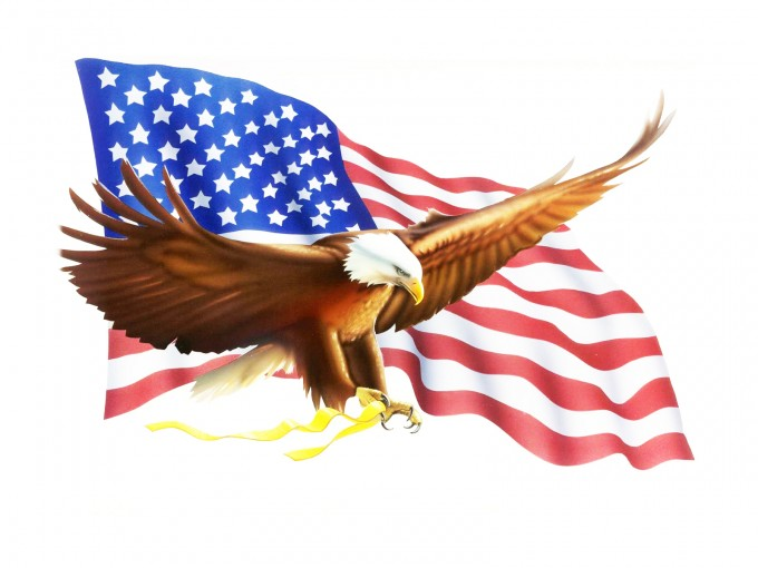 Eagle Flag Bob Design PPT Backgrounds