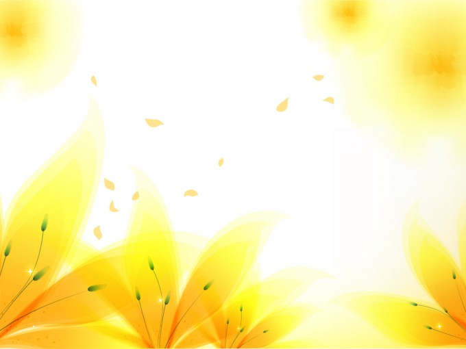 Fresh Yellow Flowers PPT Backgrounds