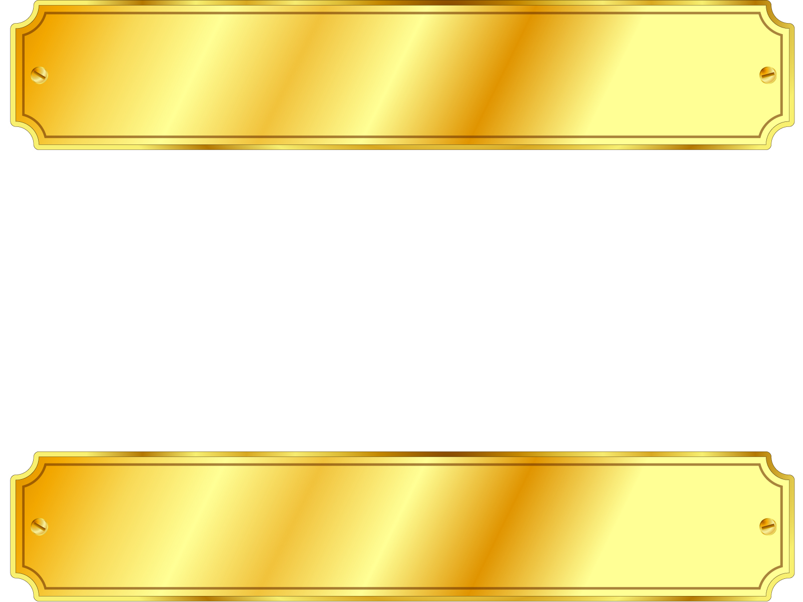 4635 Gold Metal Sign Backgrounds on Black Brown Border