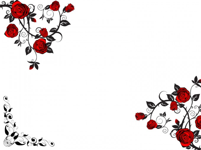 Red Rose Flower PPT Backgrounds