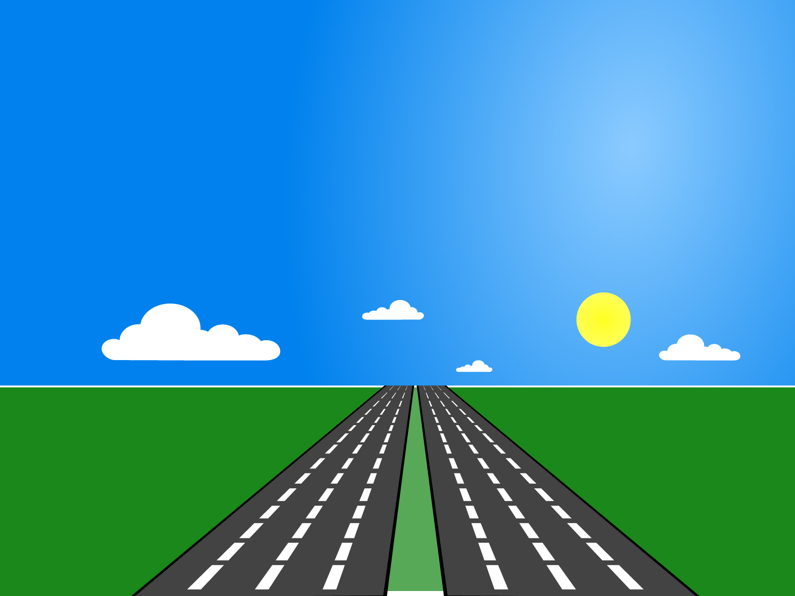 Road Transportation Ppt Backgrounds Blue Green
