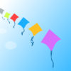 Row of Kites Powerpoint Backgrounds