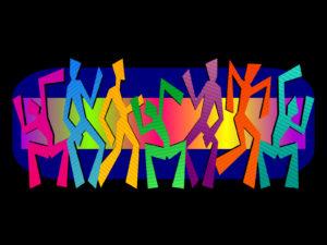 Simple Dancing Figures Design Template