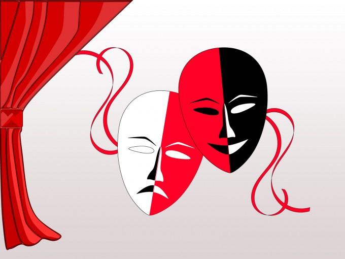 Theatre Masks PPT Backgrounds