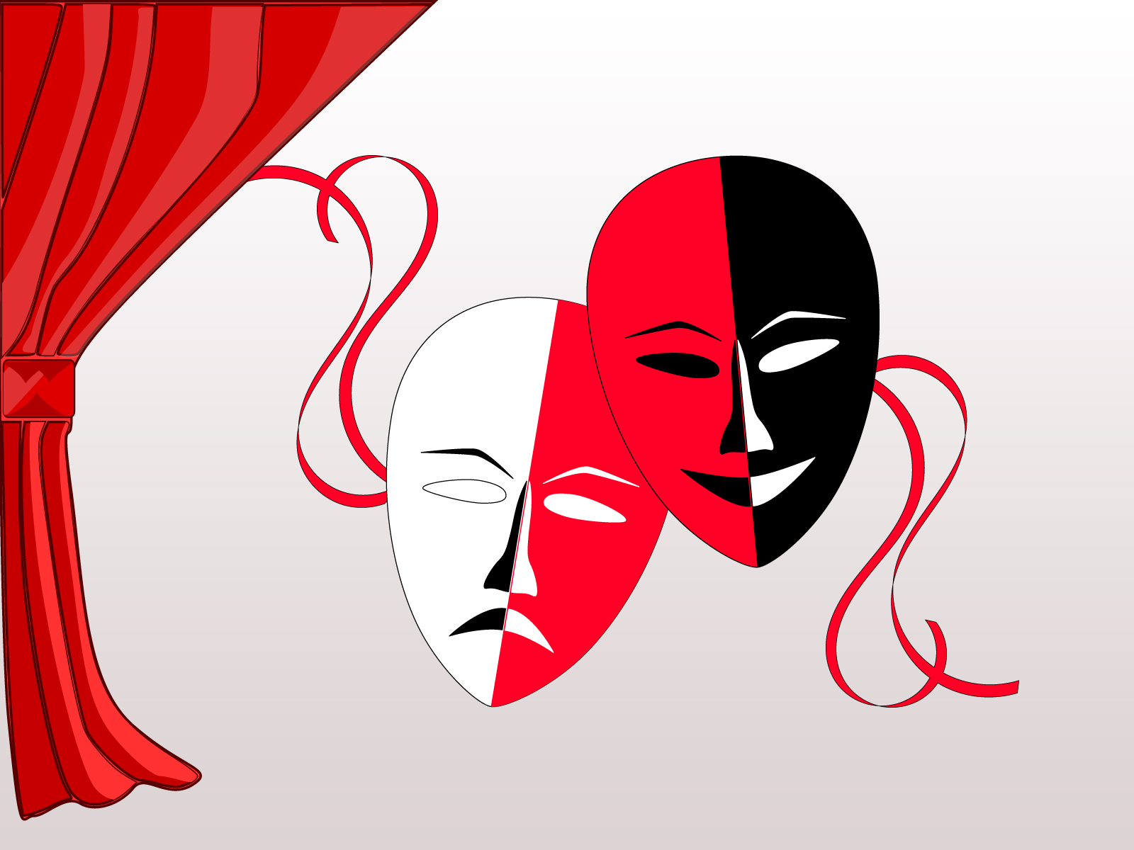 theatre masks backgrounds black  movie   tv  red  white templates free ppt backgrounds and theatre clipart theater clip art images