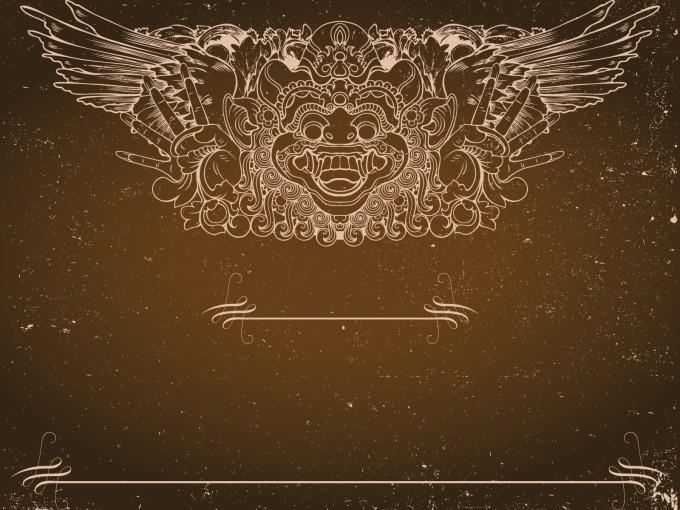 Totem Faith Grunge PPT Backgrounds