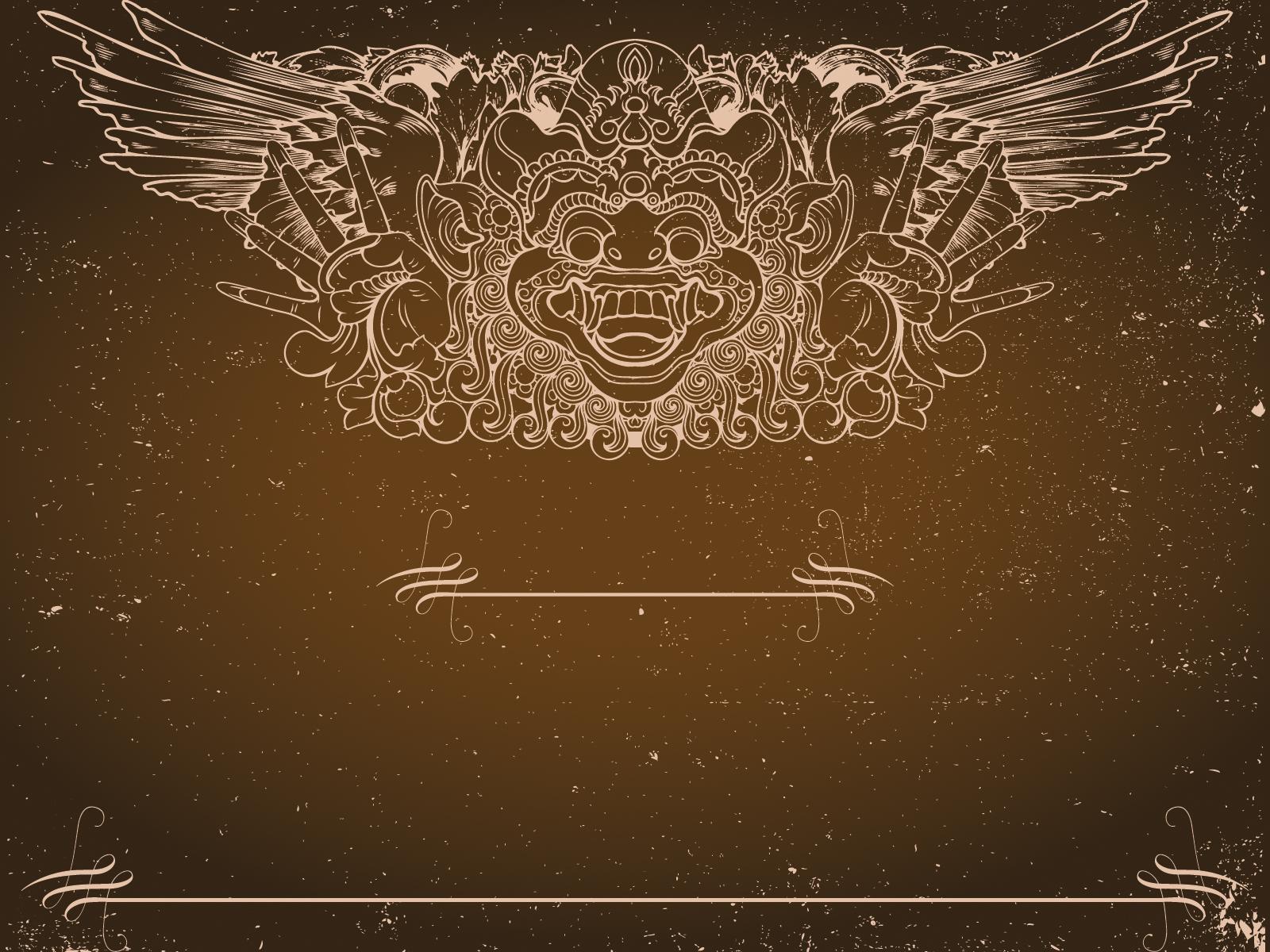 Totem Faith Grunge PPT Backgrounds - Beige, Border ...