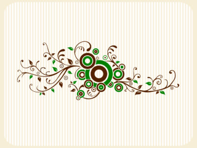 Wall Floral Tattoo PPT Backgrounds
