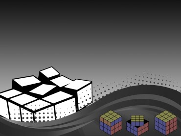 3D Dark Rubik Powerpoint
