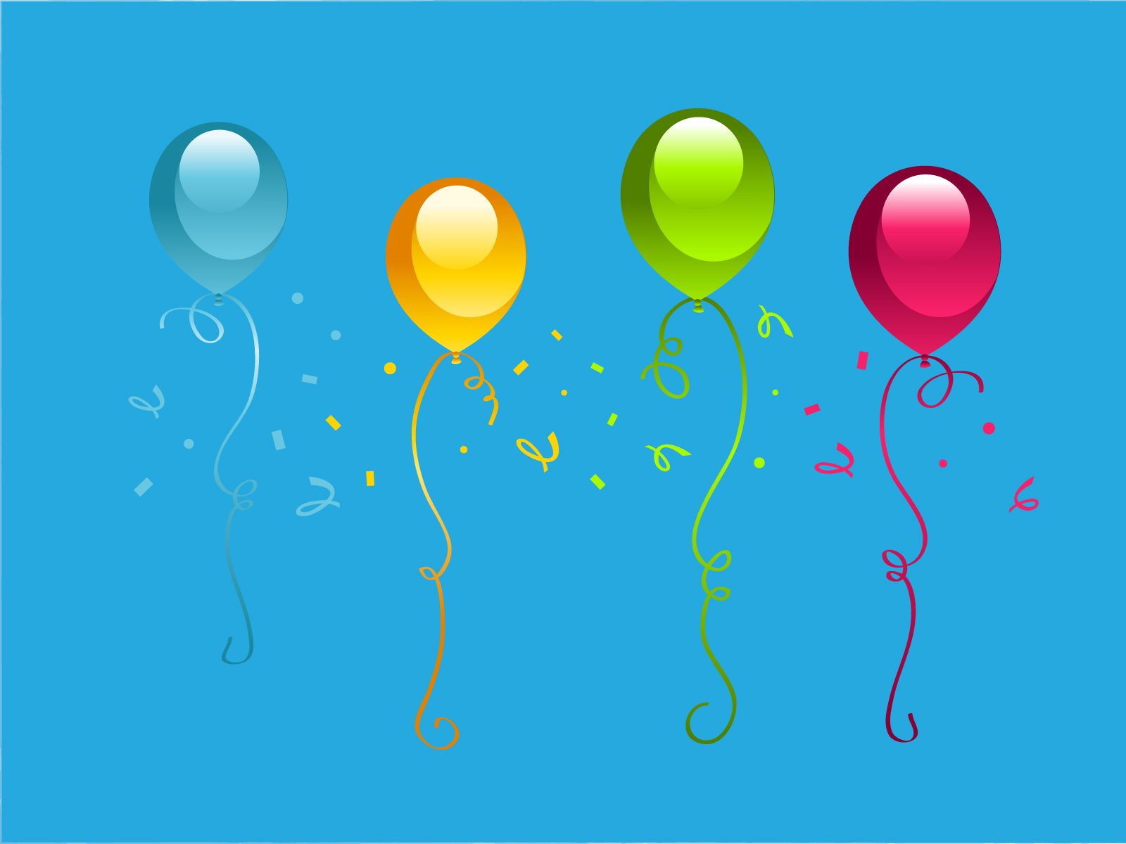 birthday party presentation backgrounds blue cartoon