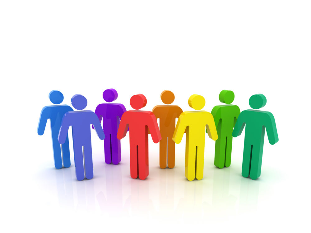 Business Network People Backgrounds Blue Business