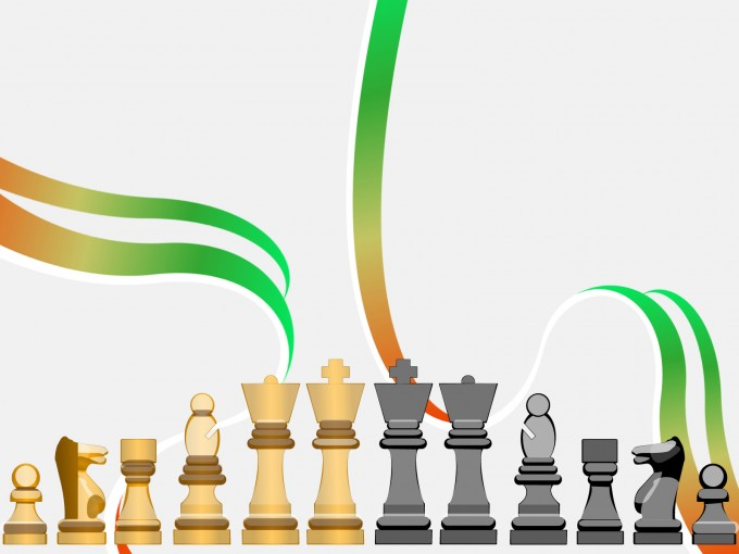 Chess Figures for Games PPT Backgrounds