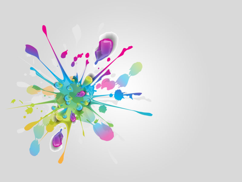 Colorful Splatter PPT Backgrounds