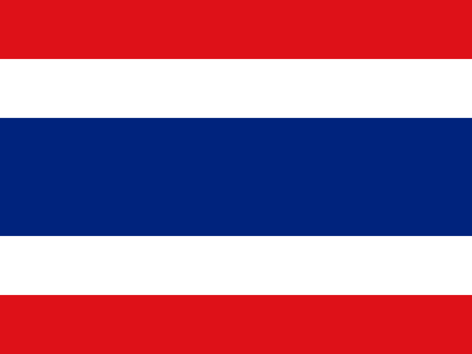 Flag of Thailand Powerpoint Backgrounds
