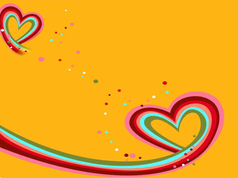 Heart to Heart Against Love PPT Backgrounds