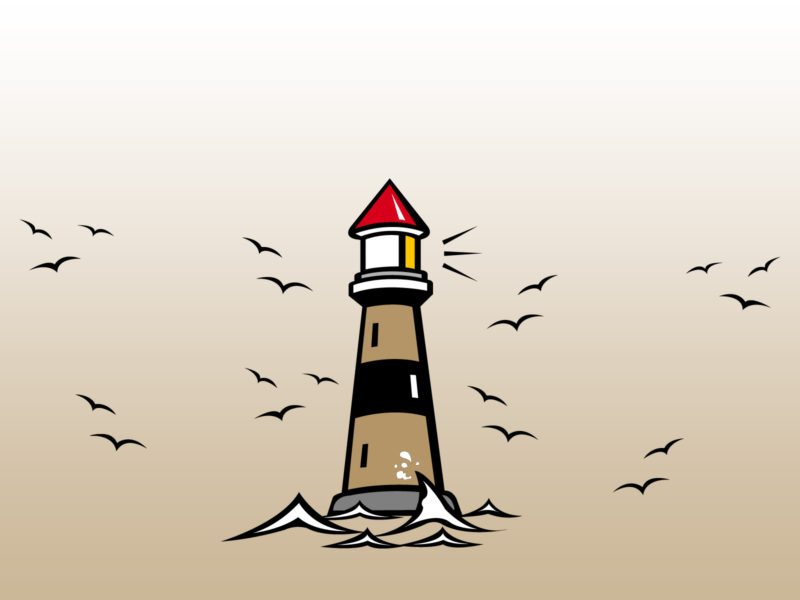 Lighthouse and Seagulls Backgrounds