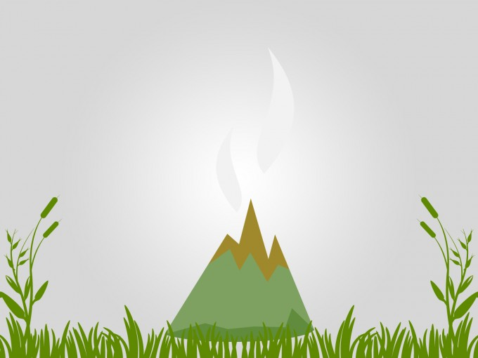 Mountains and Volcanoes PPT Backgrounds