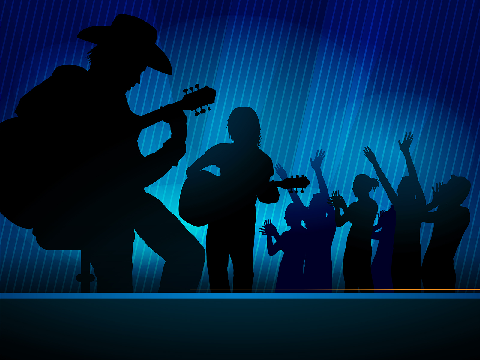 Music Concert Powerpoint Slides PPT Backgrounds - Black