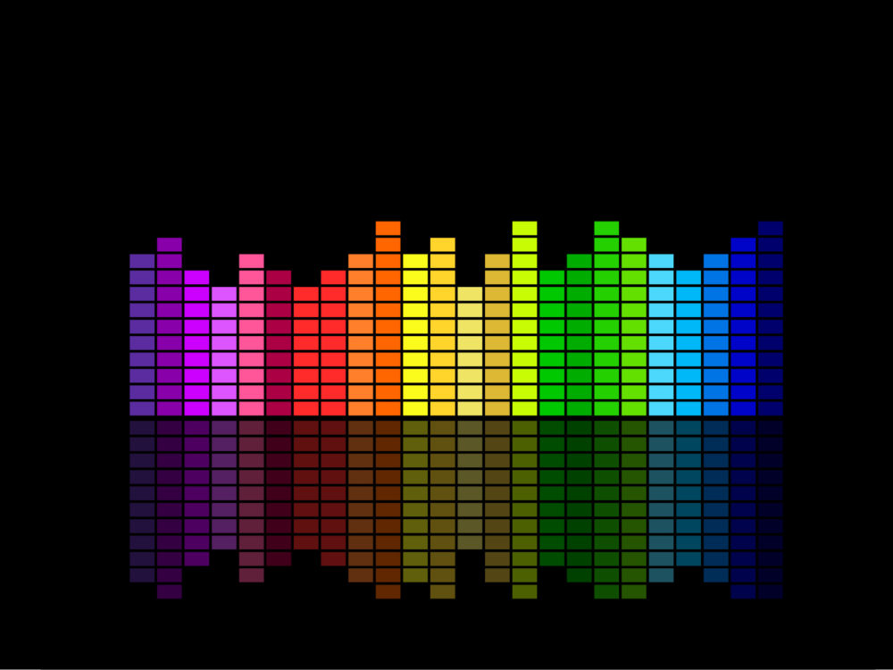 Sound Graphic Equalizer Rainbow Particle Style ( Series 4 ...