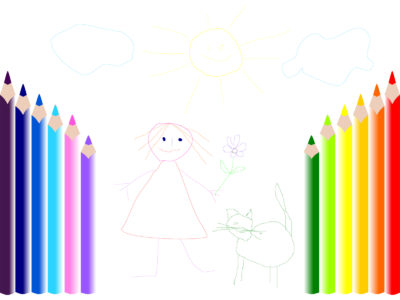 Pencil Painting Lesson PPT Backgrounds
