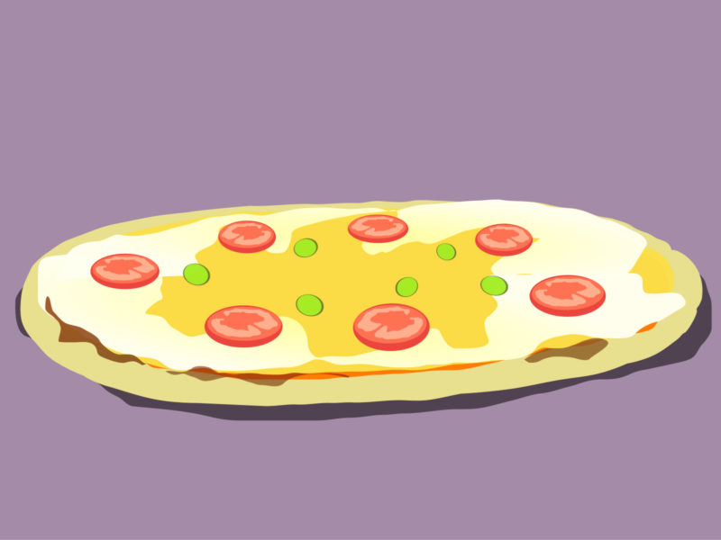 Pizza with Sausage PPT Backgrounds