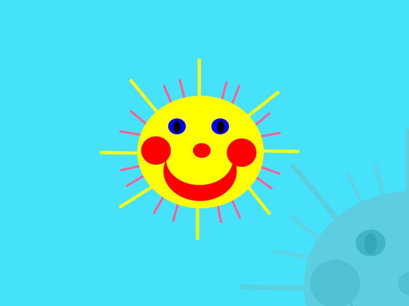 Summer Sun PPT Backgrounds
