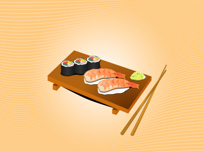 Sushi Menu Backgrounds for Powerpoint