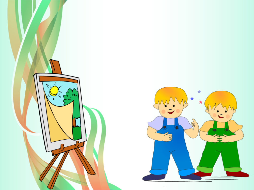 sweet kids paint backgrounds cartoon educational green templates free ppt backgrounds and. Black Bedroom Furniture Sets. Home Design Ideas