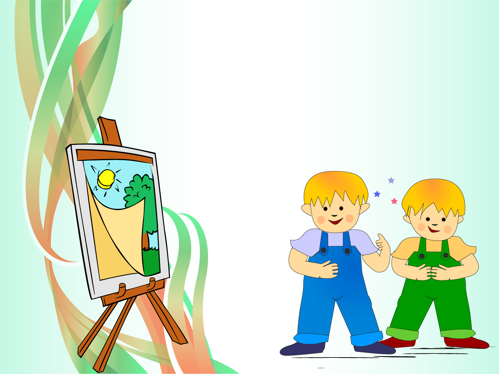 Sweet Kids Paint Backgrounds | Cartoon, Educational, Green Templates ...