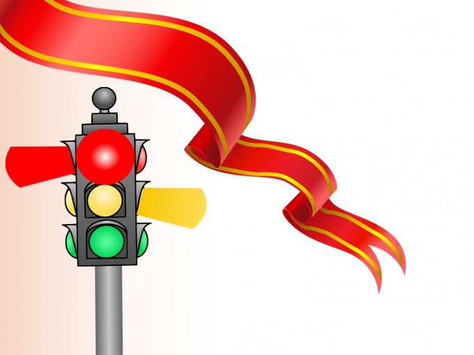 Traffic Lights for Rules PPT Backgrounds