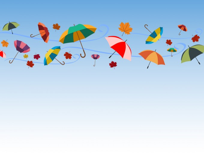 Umbrellas and Celebrations PPT Backgrounds