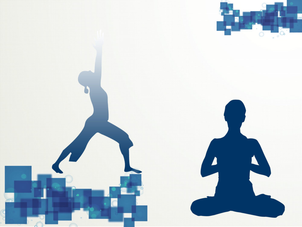 Yoga sport template backgrounds blue sports templates free ppt normal resolution toneelgroepblik Image collections