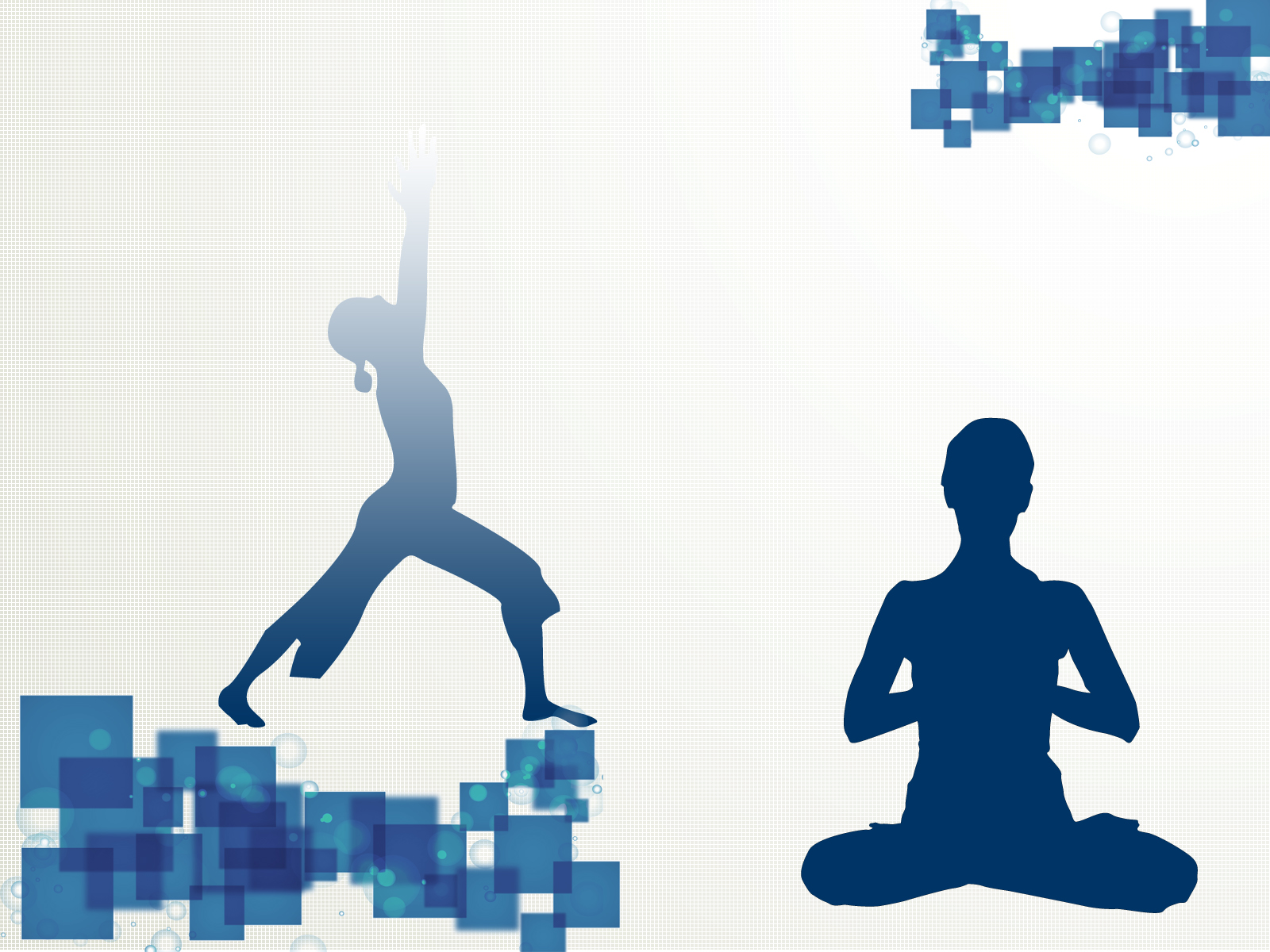 yoga sport template ppt backgrounds - blue, sports templates - ppt, Presentation templates