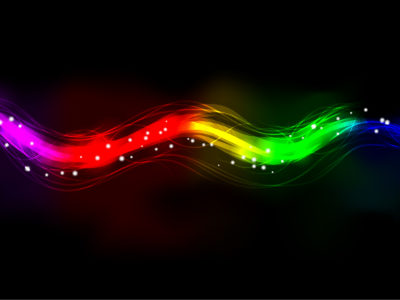 Abstract Neon Blurry PPT Backgrounds